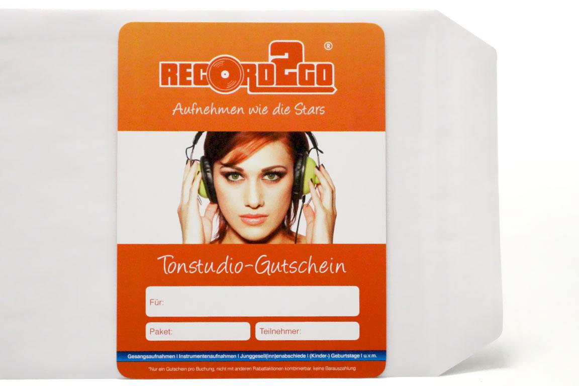 Gutschein Für Unser Tonstudio In Braunschweig