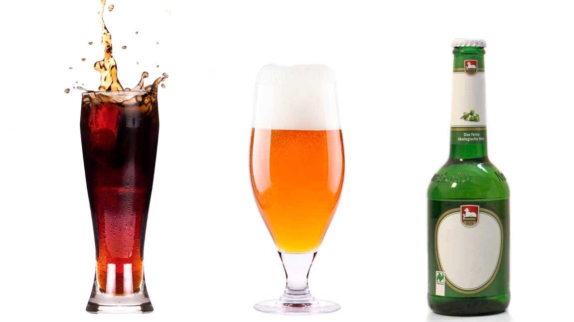 softdrinks und bier